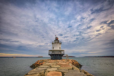 November Morn At Spring Point Ledge Light Station Art Print by Rick Berk