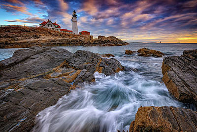 Photograph - November Morning At Portland Head Lighthouse by Rick Berk