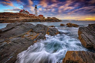 Photograph - November Morning At Portland Head Lighthouse by Rick Berk