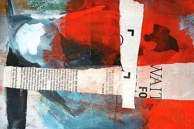 Red Abstract Mixed Media - November by Nancy Merkle