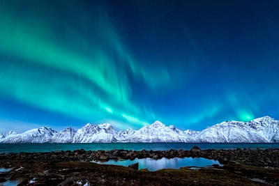 Mountain Royalty-Free and Rights-Managed Images - November night by Tor-Ivar Naess