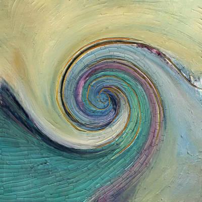Mixed Media - November Ocean by Jen Gray