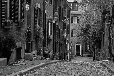 Photograph - November On Boston Acorn Street by Juergen Roth