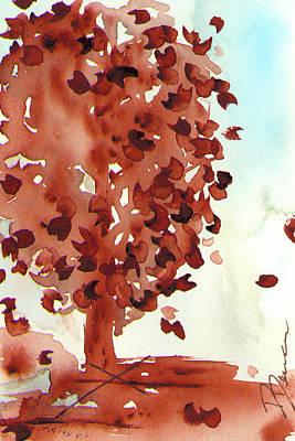 Pear Tree Painting - November Pear by Dawn Derman