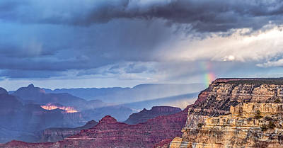 National Park Drawing - November Rain - Grand Canyon National Park Photograph by Duane Miller