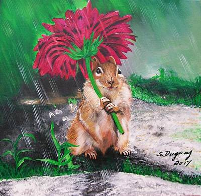 Painting - November Rain by Sharon Duguay