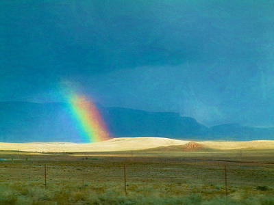 Photograph - November Rainbow Mohave County by Bonnie Follett