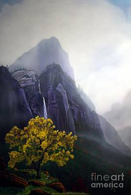 Zion National Park Painting - November Reign Zion by Jerry Bokowski