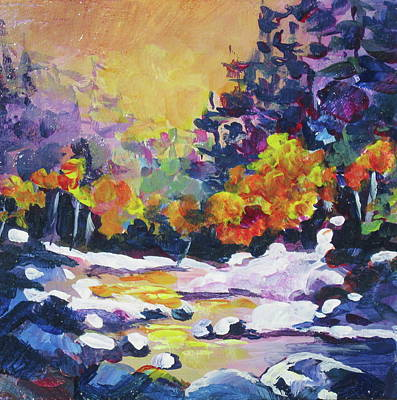 Painting - November River by Bonny Roberts