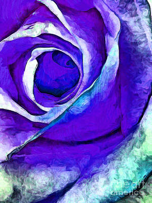 Macro Digital Art - November Rose by Krissy Katsimbras