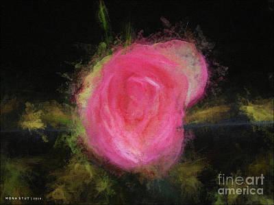 Rosaceae Mixed Media - November Rose by Mona Stut