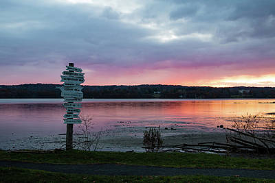 Photograph - November Sunrise At Esopus Meadows II by Jeff Severson