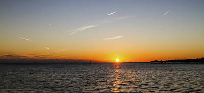 Photograph - November Sunset by Bob Slitzan