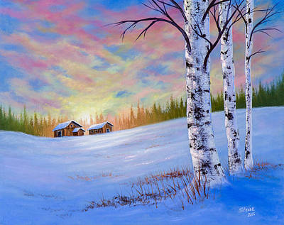 Bob Ross Painting - November Sunset by C Steele