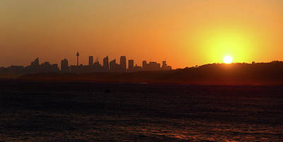 Photograph - November Sunset Over Sydney by Miroslava Jurcik
