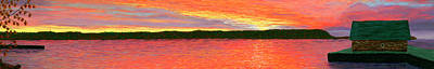 Pastel - November Sunset Special Crop by George Burr