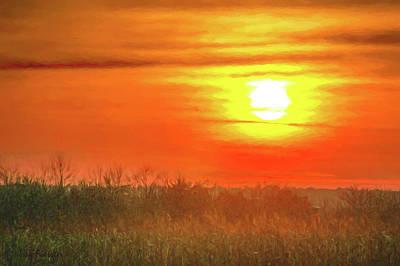 Digital Art - November Sunset by Trey Foerster
