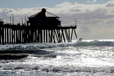 Photograph - November Surfer Huntington Beach California by Linda Queally