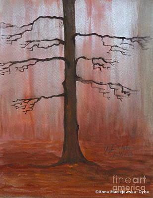 November Tree Art Print by Anna Folkartanna Maciejewska-Dyba