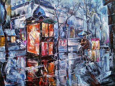 Painting - November Walk II by Stefano Popovski