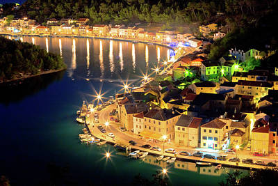 Photograph - Novigrad Dalmatinski Waterfront At Evening Aerial View by Brch Photography