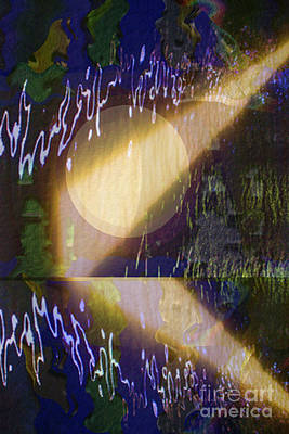 Rights Managed Images Mixed Media - Novino Sunlight Beams Falling On Water Through Bridge Cavities Graphic Artwork By Navinjoshi Buy Pos by Navin Joshi