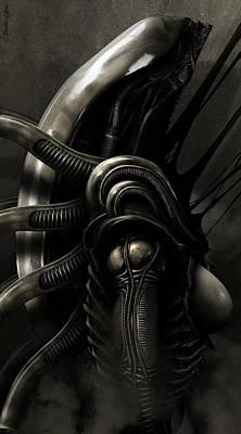 H.r. Giger Digital Art - Novus Xeno by Pharaoh Laboa