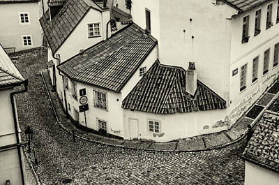 Photograph - Novy Svet. Prague. Black And White by Jenny Rainbow