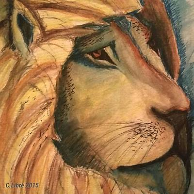 Painting - Lion Art by Cariza Libre
