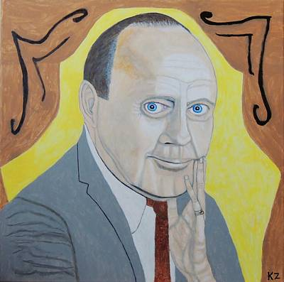 Painting - Now Cut That Out. Jack Benny. by Ken Zabel