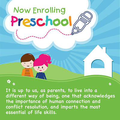 Drawing - Now Enrolling Preschool Poster Design by Serena King