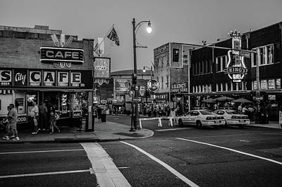 Photograph - Now Entering Beale  by D Justin Johns