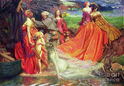 Painting - Now Is The Pilgrim Year Fair Autumn's Charge by John Byam Liston Shaw
