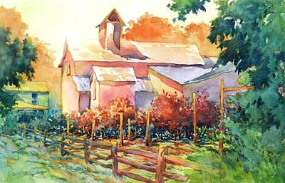 Now It's A Winery No. 1 Art Print by Virgil Carter