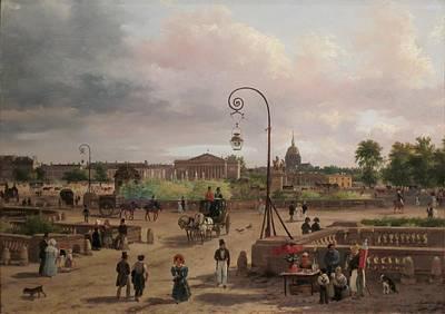 now Place de la Concorde by Giuseppe Canella Art Print by Place Louis