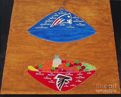 Fruitbowl Painting - Now That's A Superbowl 2 by Dennis ONeil