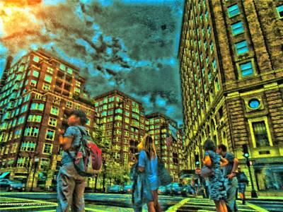 Digital Art - Now What? Boston. by Vince Green