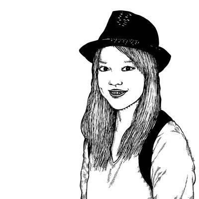 Nozomi Drawing - Nozomi by Karl Addison