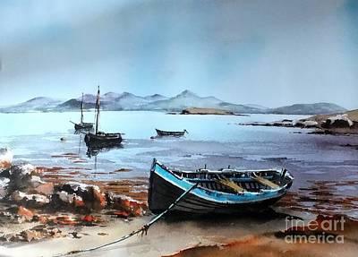 Painting - Nr. Carna Conemara Galway by Val Byrne