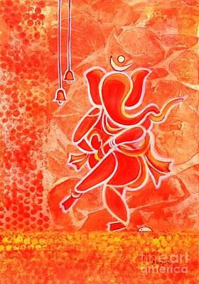 Painting - Nritya Ganesha- Dancing God by Manjiri Kanvinde