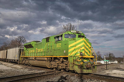 Norfolk Southern Railway Photograph - Ns 1072 Heritage Unit Illinois Terminal At Oakland City In by Jim Pearson