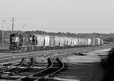 Photograph - Ns 5178 In Yard Duty Bw by Joseph C Hinson Photography