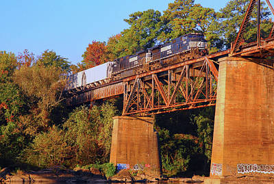 Photograph - Ns 9365 Crosses The Congaree River by Joseph C Hinson Photography
