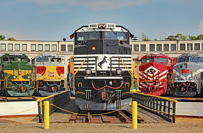 Photograph - Ns Heritage Locomotives Family Photographs 1030 Day 10 by Joseph C Hinson Photography