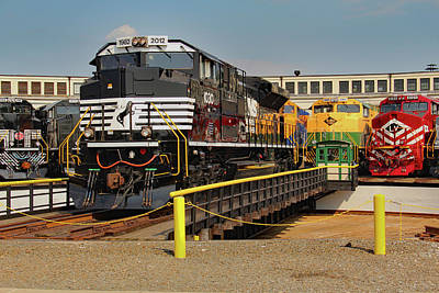 Photograph - Ns Heritage Locomotives Family Photographs 1030 Day 17 by Joseph C Hinson Photography