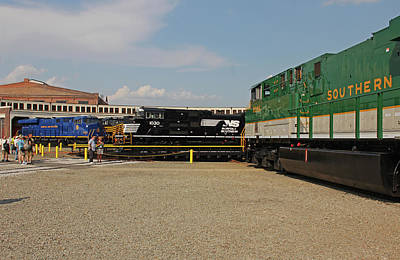 Photograph - Ns Heritage Locomotives Family Photographs 1030 Day 18 by Joseph C Hinson Photography