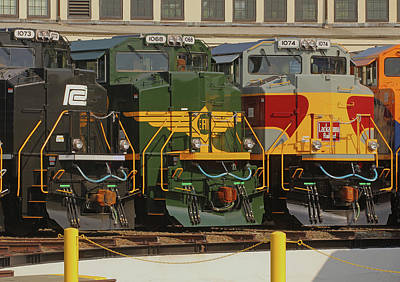 Photograph - Ns Heritage Locomotives Family Photographs 1068 Day 11 by Joseph C Hinson Photography
