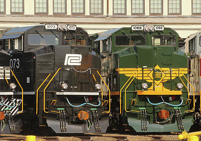 Photograph - Ns Heritage Locomotives Family Photographs 1068 Day 13 by Joseph C Hinson Photography