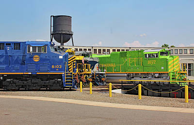 Photograph - Ns Heritage Locomotives Family Photographs 1072 Day 7 by Joseph C Hinson Photography