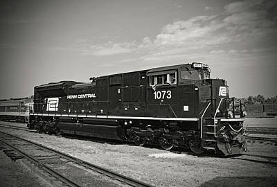 Photograph - Ns Heritage Locomotives Family Photographs 1073 Day B W 10 by Joseph C Hinson Photography